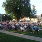 A large audience enjoyed the great music and weather.